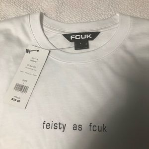 French Connection Large Tee Shirt Feisty As Fcuk